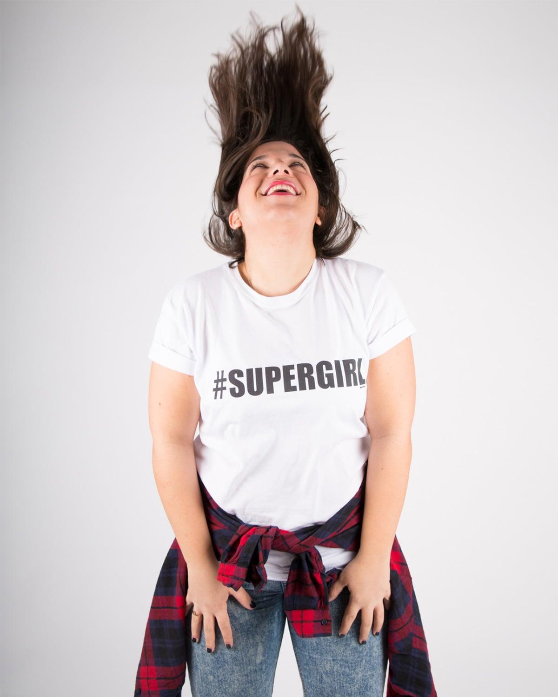 חולצת טי שירט נשים Supergirl