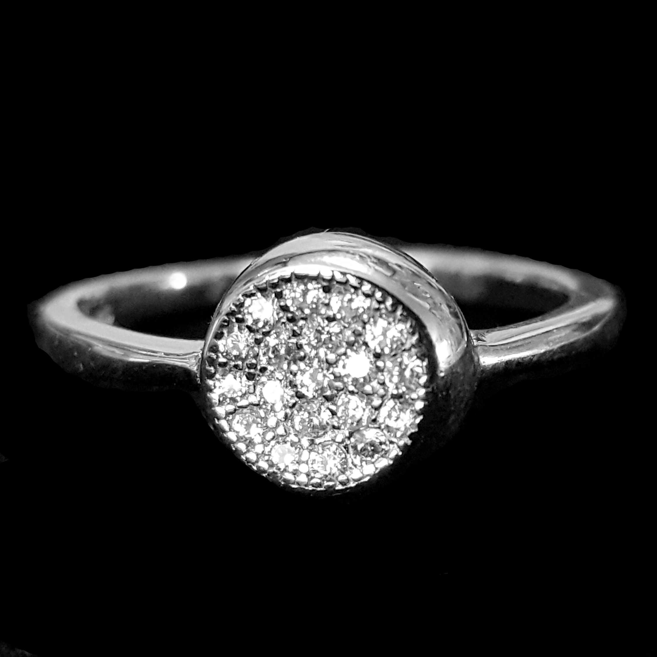 טבעת כסף משובצת זרקונים RG3227 | תכשיטי כסף