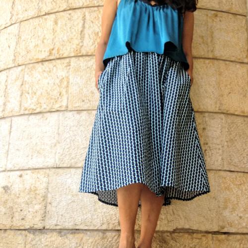 חצאית איימי מודפסת