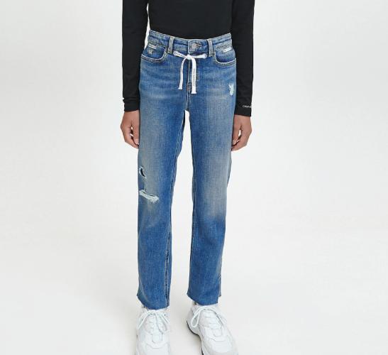 ג׳ינס עם שרוך בנות - Calvin Klein - מידות 4 עד 16 שנים
