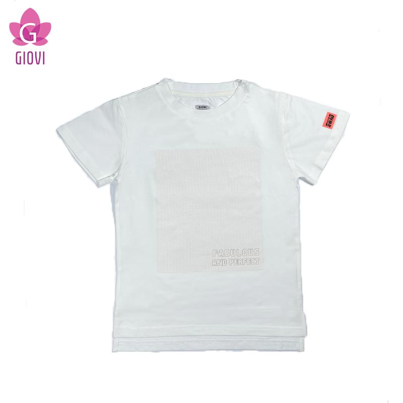 חולצה עם הדפס לבן