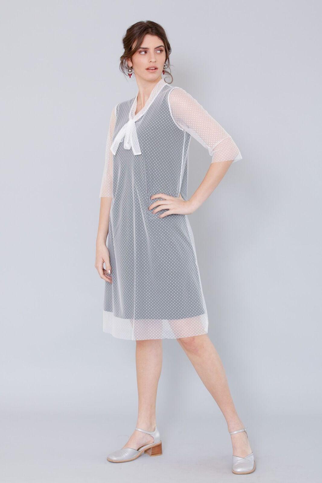 שמלת אלזה לבן שחור