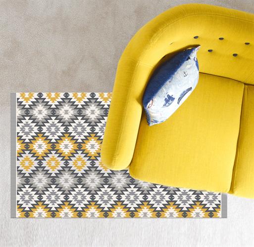 שטיח פי.וי.סי מעוצב לבית (דגם 1068)
