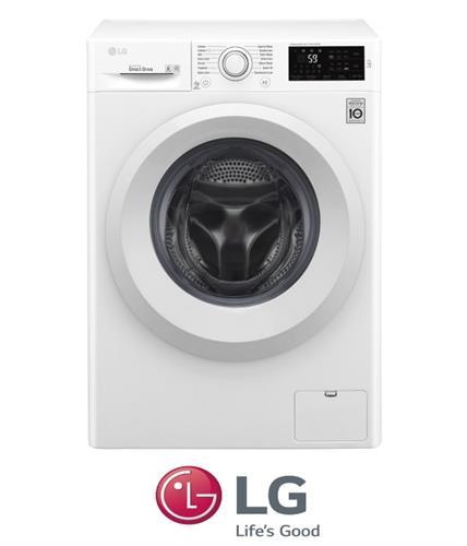 """מכונת כביסה פתח קידמי LG F4J6T0W 8 ק""""ג"""