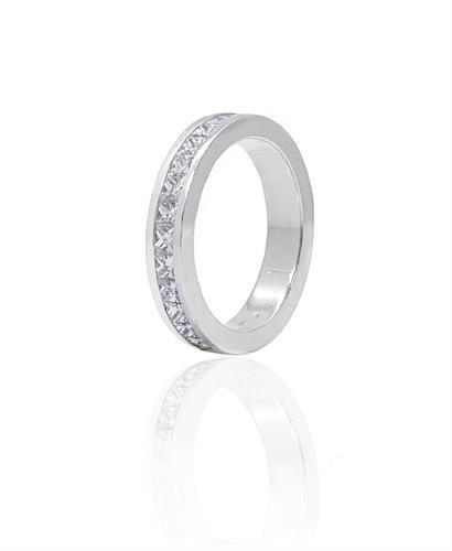 טבעת יהלומים מרובעים בזהב 14 קרט 2.2 קראט