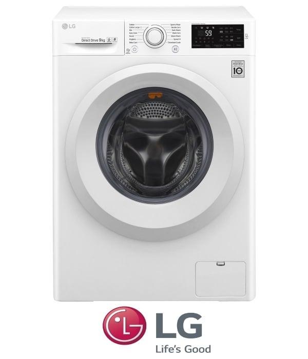 "LG מכונת כביסה 9 ק""ג דגם F91491FD"