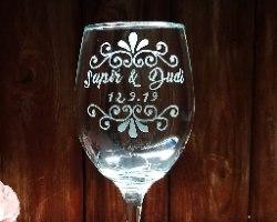 כוס קידוש לחופה | כוס יין מעוצבת |תאריך לועזי