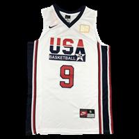 גופיית כדורסל מייקל גורדן  נבחרת ארצות הברית (הלבנה)