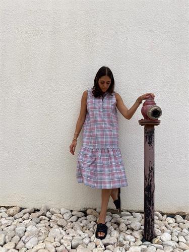 שמלת בייבי לי  קיץ משבצות