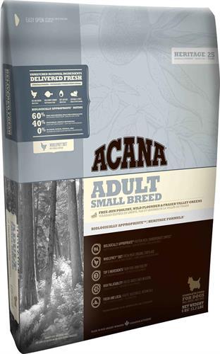 """acana small breed בוגר גזע קטן 2 ק""""ג"""