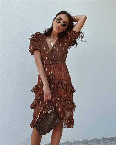 שמלת איזבלה - חומה ברונזה
