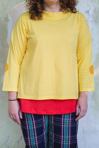 חולצות מדגם איה בצבע צהוב