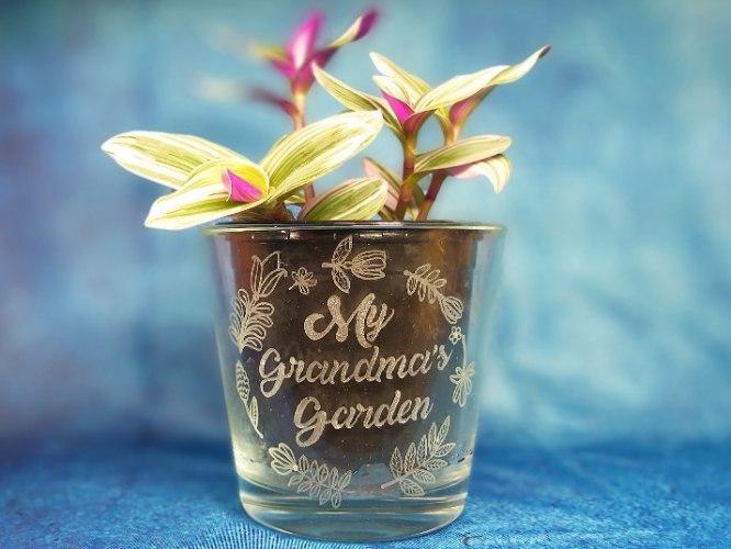עציץ עם חריטה | מתנות מיוחדות לסבתא| My Grandma's Garden