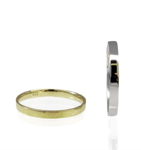 טבעת נישואין לגבר ולאשה בזהב 14 קרט- דגם WR128