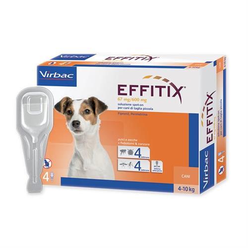 """אפיטיקס טיפות להדברת פרעושים וקרציות בכלבים 4-10 ק""""ג  Virbac Effitix"""