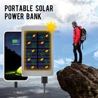 סוללת גיבוי סולרית לטלפון נייד עם תאורת חירום מבית LMS DATA להטענה סולרי סולארית