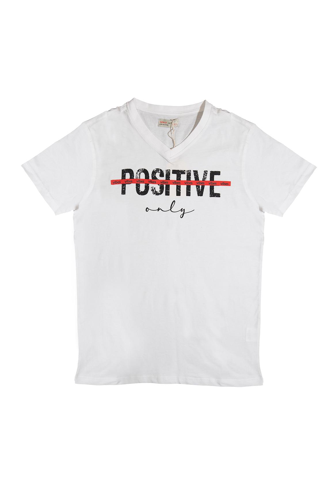 חולצת POSITIVE לבנה