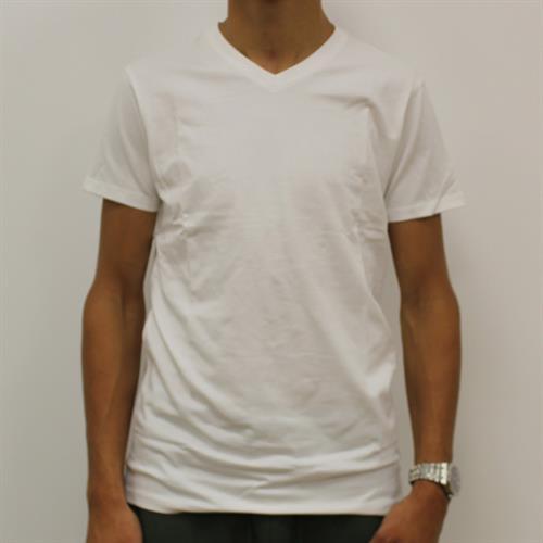 חולצה גבר לייקרה וי לבן