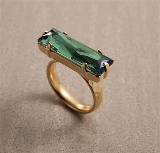 טבעת DANON - אובלונג ירוק