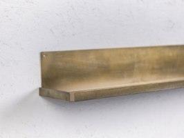 מדף מתכת צר - ארוך זהב