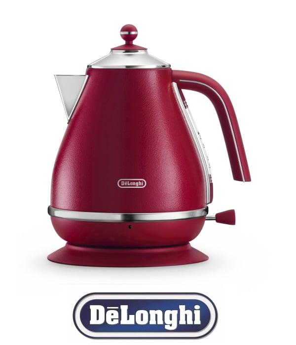 DeLonghi קומקום חשמלי נשלף ICONA ELEMENTS גוון אדום דגם  KBOE-2001.R