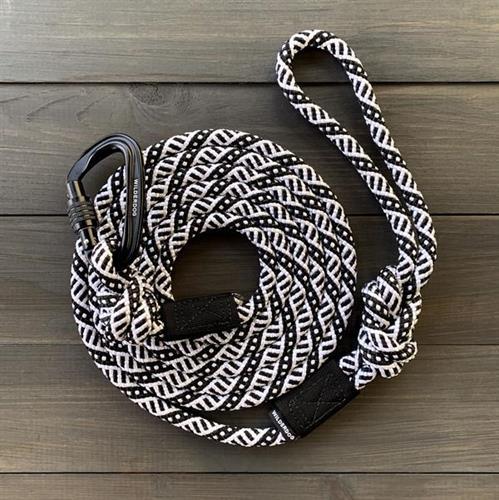 רצועה לכלב חבל מטפסים Black and White