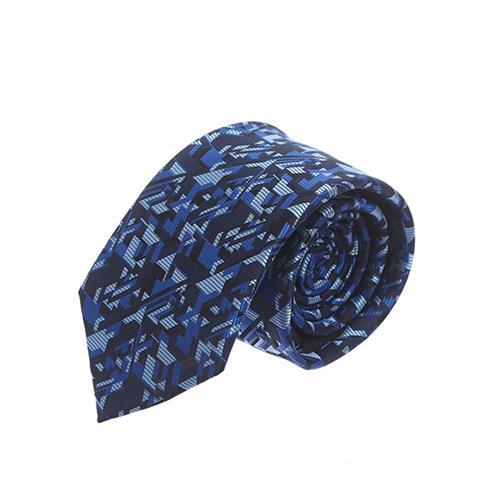 עניבה כחול שחור גאומטרי