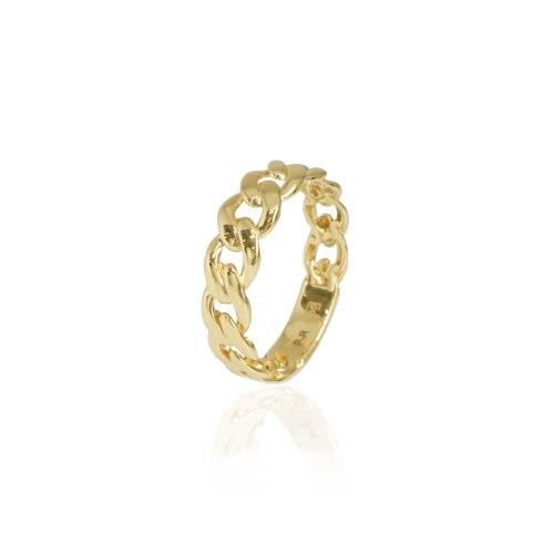 טבעת זהב חוליות טבעת מיוחדת