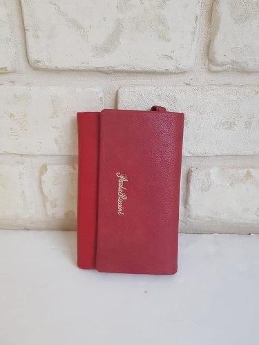 ארנק דמוי עור גדול אדום 4055