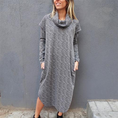 שמלת מאונטן אפור מלאנז'