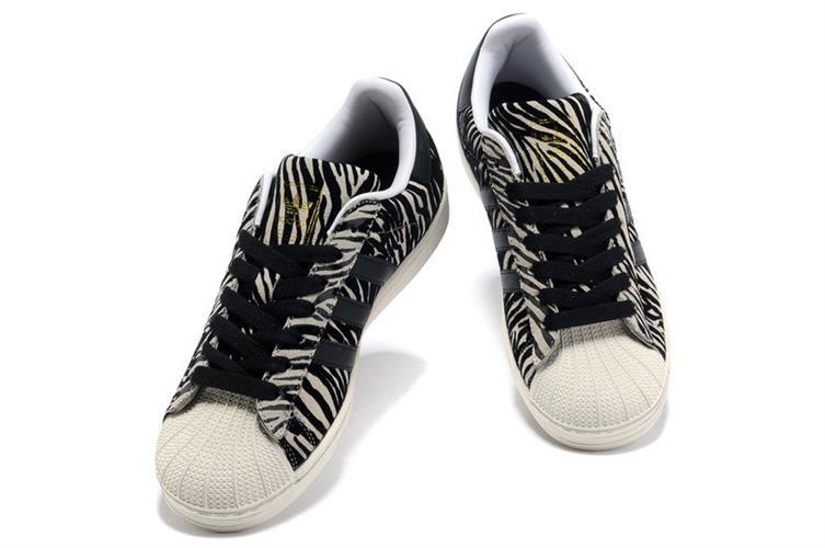 נעלי Adidas Superstar Zebra יוניסקס מעוצבות מידות 36-44