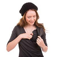 שמלת הנקה מעטפת שרוול 3/4 NursingAnywear