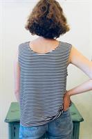 חולצת בוקסי פסים שחור לבן