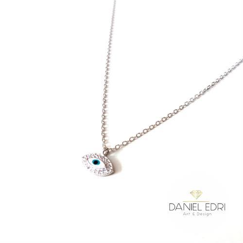 שרשרת עין כחולה כסף 925