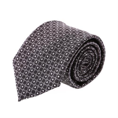 עניבה קלאסית עיגולים שחורה