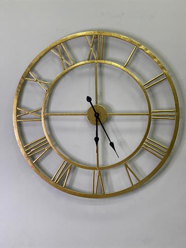 שעון רומי זהב מוברש