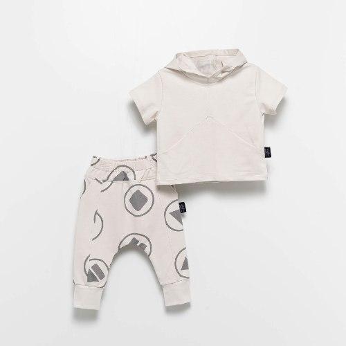 חליפת קפוצ׳ון אבן פליי MOI NOI מידות - 6 חודשים עד 5 שנים