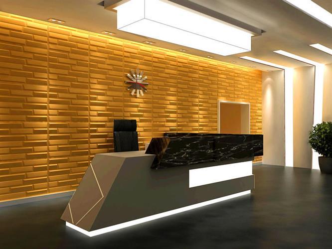 """חיפויי קיר תלת מימדי דגם ''sandstone'' בגודל 62.5*80 ס""""מ"""