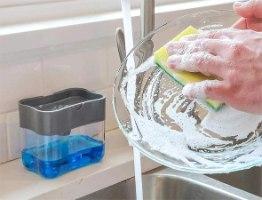 דיספנסר חכם מתקן לנוזל כלים ולספוג
