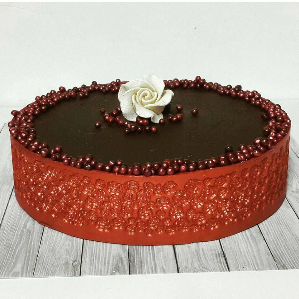 רצועה לעיטוף עוגה - ורדים