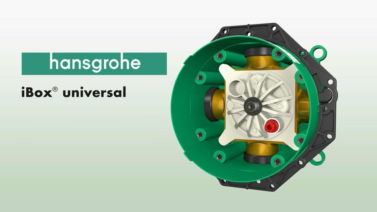 אינטרפוץ אוניברסלי IBOX הנסגרוהה HANSGROHE גרמניה דגם 01800180