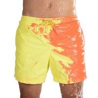 בגד ים לגבר - מחליף צבע במגע עם מים