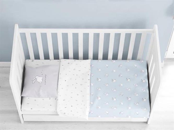סט למיטת תינוק ארנבוני /ורוד ורדינון