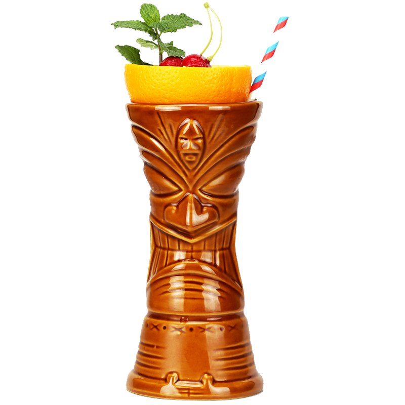 """כוס טיקי שבט המאורי 650 מ""""ל"""