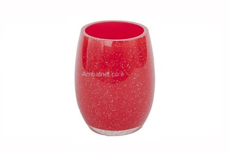 כוס למברשות שיניים אדום ספארק