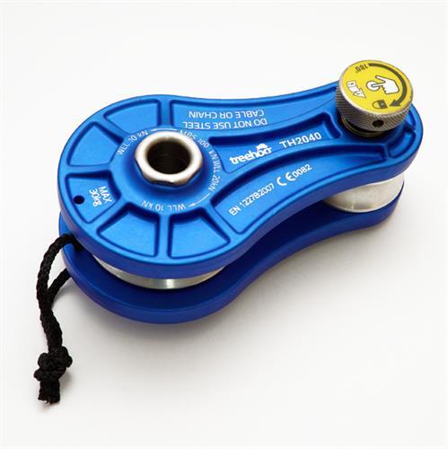 גלגלת TREEHOG להורדת משקלים 100 kn תקן EN12278 כחול