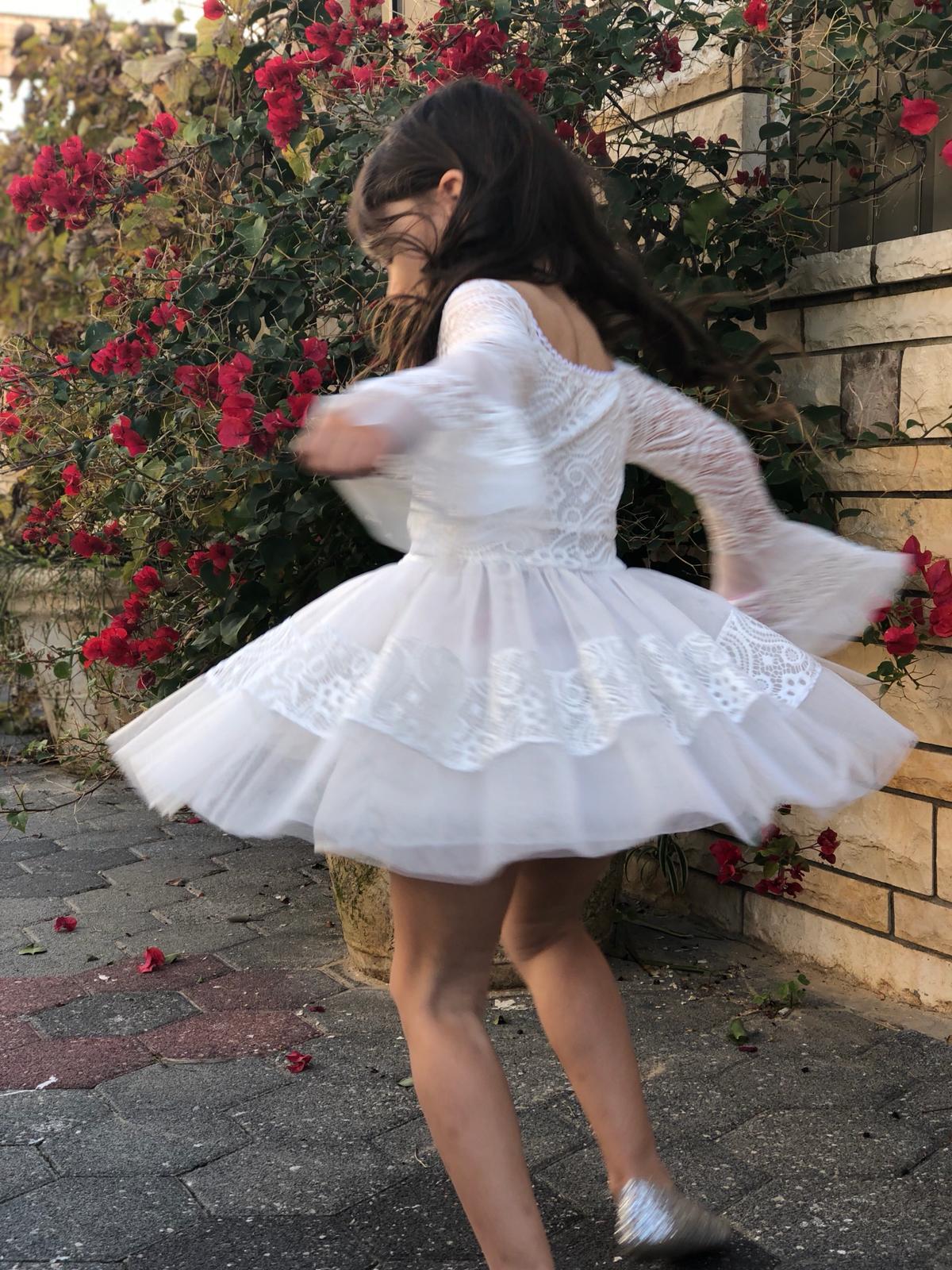 שמלת טוטו שרוול פעמון