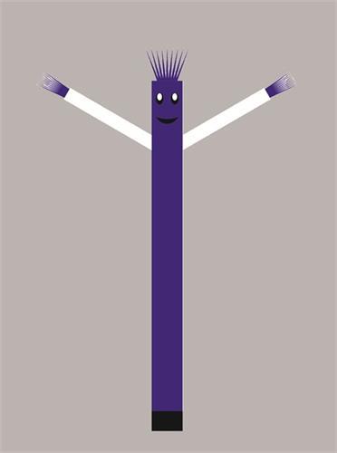 בובת דנסר רוקדת בגובה 6 מטר - צבע כחול ידיים לבנות