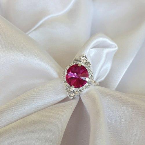 טבעת מלין- כסף פוקסיה