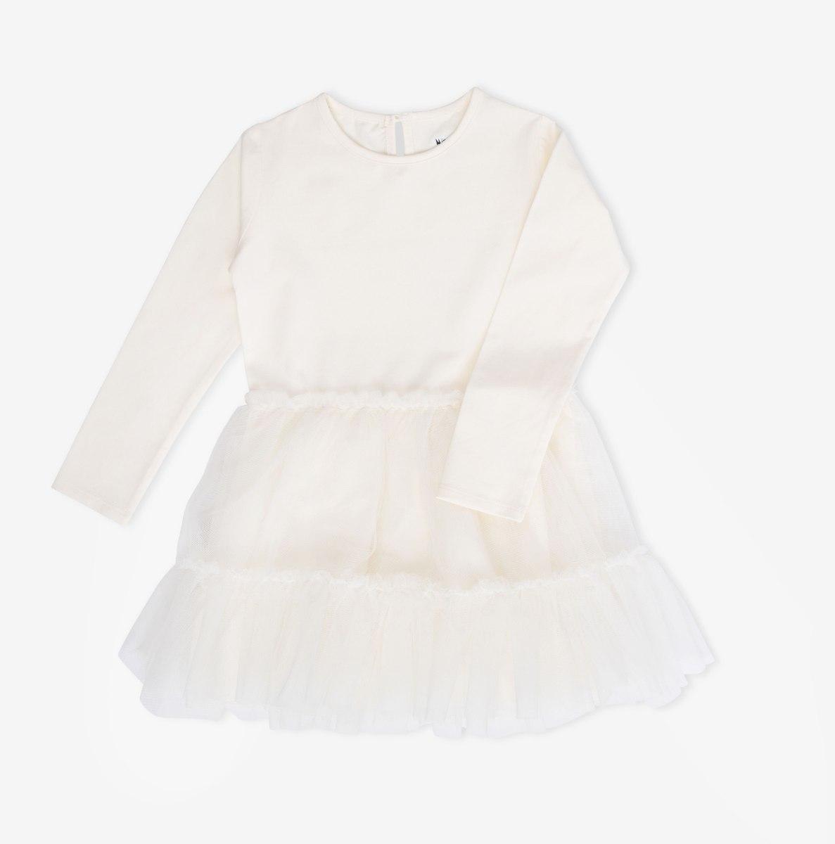 שמלת טול קומות שמנת MINENE